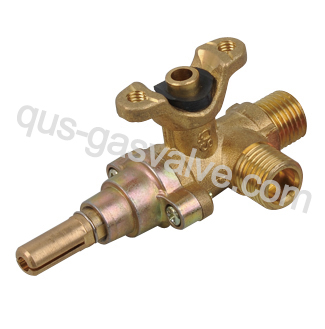 double nozzle brass gas valve QUS-601A